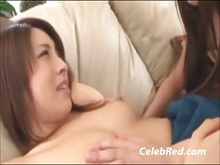 Japanese Lesbian On Couch