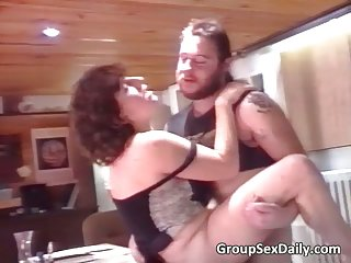 Two horny couples fucks like some crazy people