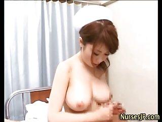 Japanese nurse russian cock jerking