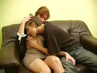 Teen Boy Fuck Russian Granny Mom!