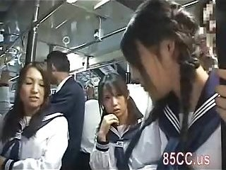 Thumb Cute schoolgirl molested by bus geek 02