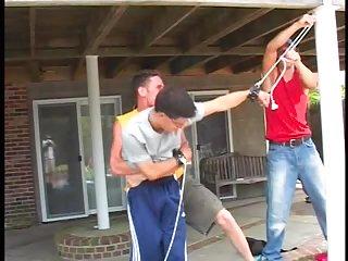 Boys bondage outdoor