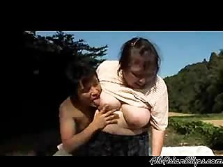 Japanese Granny Farmer Fucked
