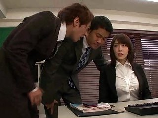 Thumb Japanese in pantyhose office sex
