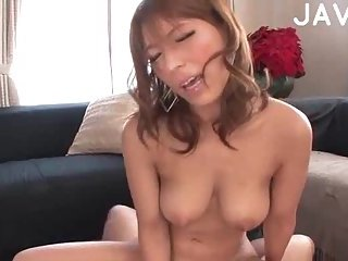 Titty Japanese in red stockings banged