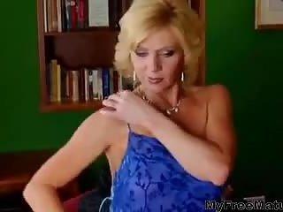 Mature Blonde & Boy Sex