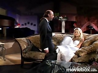 Blonde Bride Gets Fucked