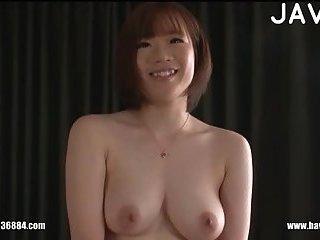 Thumb Titty Jap girl gives head