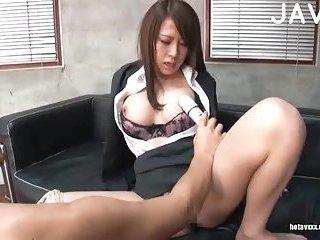 Japanese cfnm toyed & fucked