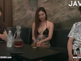 Japanese sucks cock & pussy masturbation