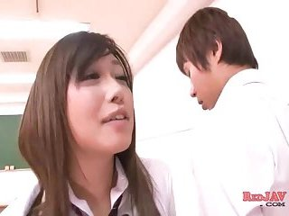Hot Japanese Students Making Out