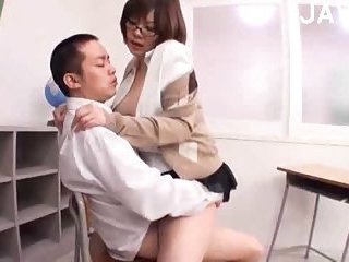 Busty Japanese teacher fucked hard