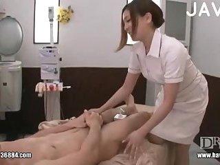 Jap nurse wanking guy cock