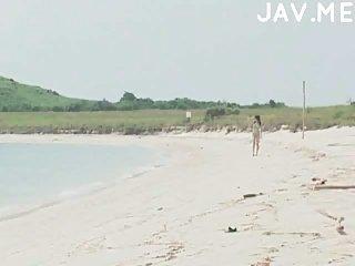 Titsjob on the beach
