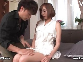 Small tits Japanese cunt fingering