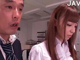 Office domination for a slender girl