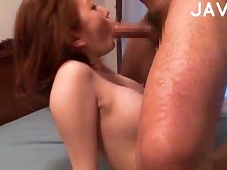 Redhead Japanese standing fuck pose