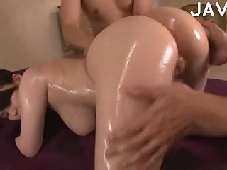 Pet her yummy oiled body!