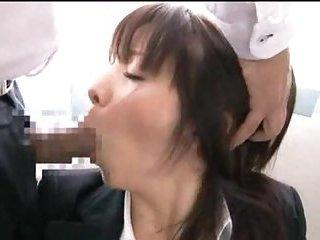 Yummy Jap gets doggystyled