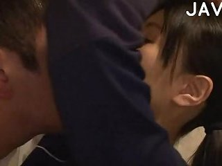 Japanese teen licking dude ass