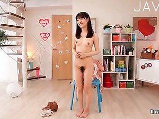 Teen Jap gal strip show
