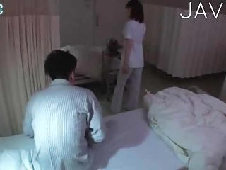 Hot patient pets his nurse