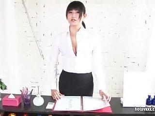 Latex wearing slut handjobing