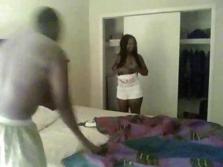 Ebony girl receive the black cock