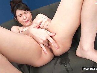 Japanese cunt masturbating scene 2