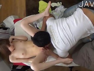 Petite Japanese gets banged