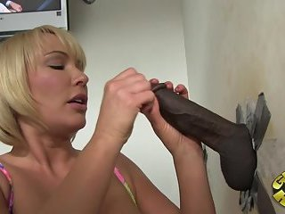 Interracial glory hole