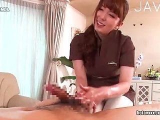 Japanese tartr wanking cock