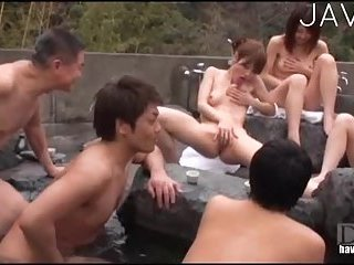 Japanese sluts have water orgy