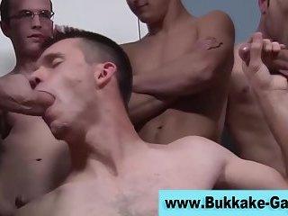 Hungry bukkake boys suck cocks