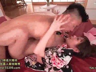 Small tits Japanese tart making love