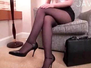 Thumb Japanese in ripped pantyhose slammed