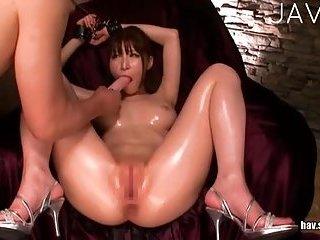 Sucking cock deep