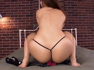 Asian Babe Masturbating With A Toy