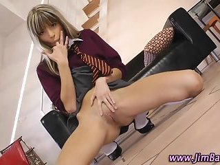 Schoolgirl amateur strip and finger