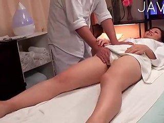 Hot babe banged hard by masseur