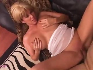 Blonde Gets Sex In A Living Room!