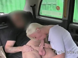 Thumb British blonde amateur drilled in fake taxi
