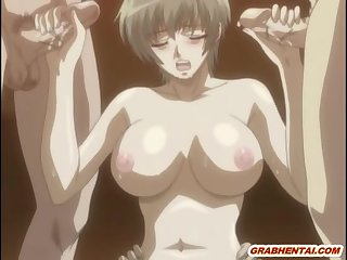 Chains hentai with bigboobs gets whipped and dildoed wetpussy