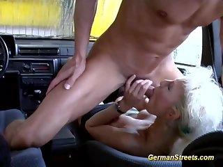German is fucked in car washing