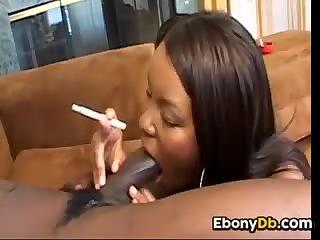 Ebony sluts smoking and sucking cock