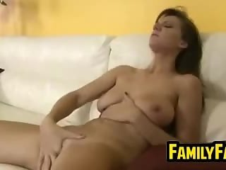 Girl Riding Her Step Father