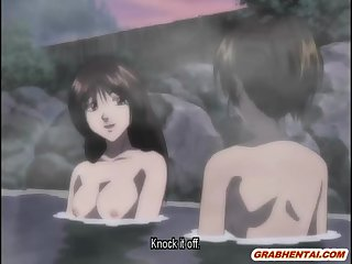 Japanese hentai with big boobs drilled in the dark night