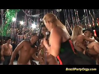 Wild anal orgy at brazilian party