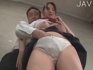 Japanese Schoolgirl Giving Head