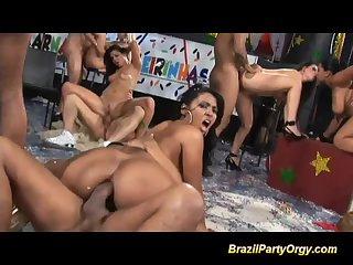 wild brazilian anal party